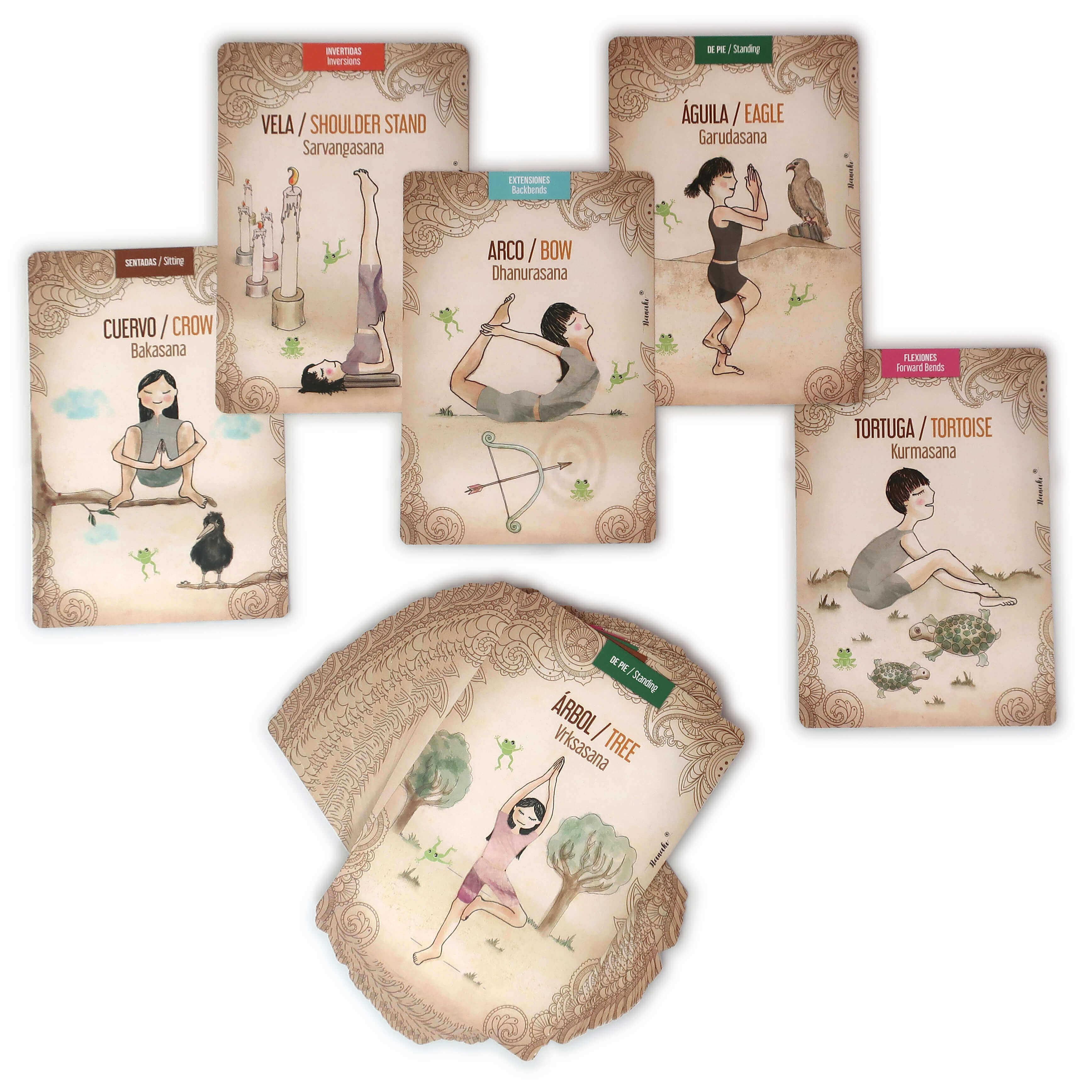 Cartas de juego de yoga